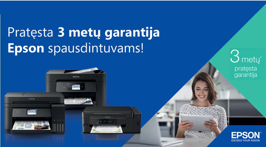 EPSON spausdintuvuvai su 3 metų garantija!
